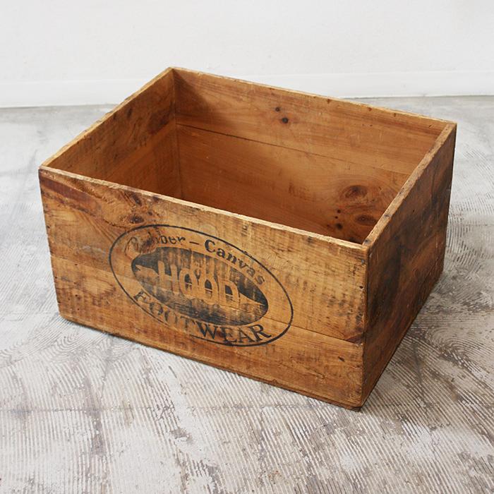 WOOD BOX【海外直輸入中古品】【中古】ウッドボックス ボックス アンティーク 木箱 箱 収納 ヴィンテージ 木製 家具 インテリア antique industrial vintage furniture  wood box