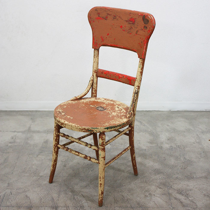 WOOD CHAIR【海外直輸入中古品】【中古】アンティーク ヴィンテージ 木製 家具 インテリア antique industrial vintage furniture chair wood イス チェア いす ビンテージ ベージュ