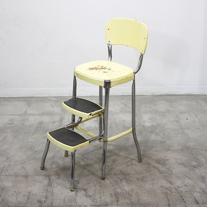 IRON STEP CHAIR【海外直輸入中古品】【中古】イス ステップチェア チェア アメリカ アンティーク ヴィンテージ 家具 インテリア antique industrial vintage furniture iron step chair Stylaire