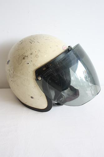 ジェットヘルメット HELMET【海外直輸入中古品】【中古】ジェットヘルメット アンティーク BELL 500-TX 中古 アメリカ  ヘルメット ヴィンテージヘルメット バイク インテリア 58センチ