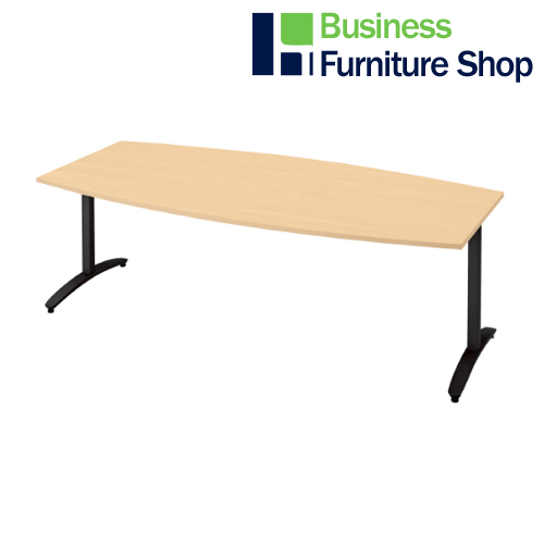 ロンナ 会議テーブル NN-2110TAB WM/BK(オフィス 事務所)