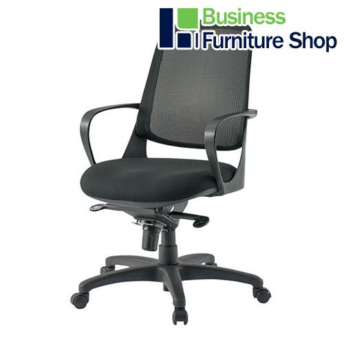 事務イス CF-6M ブラック【tw】 パソコンチェア デスクチェア 椅子 (オフィス 事務所)