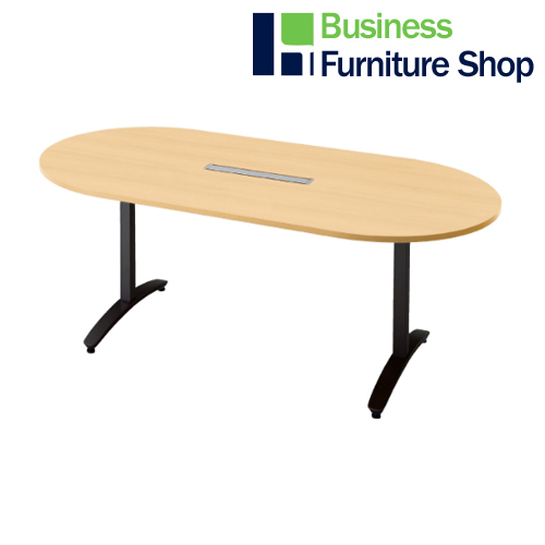 ロンナ 会議テーブル NN-1809TAOH WM/BK(オフィス 事務所)