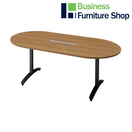 ロンナ 会議テーブル NN-1809TAOH T2/BK(オフィス 事務所)