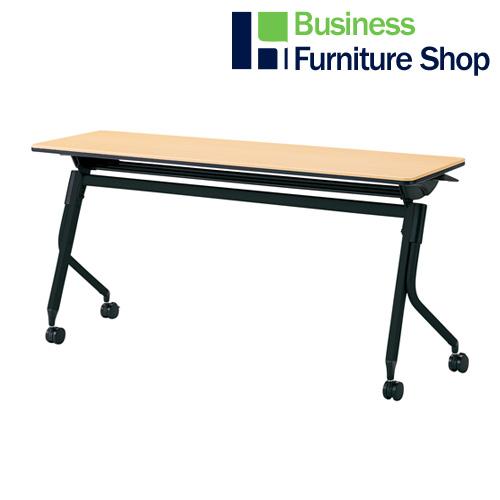会議テーブル リネロ2 LD-515 WM/BK(オフィス 事務所)