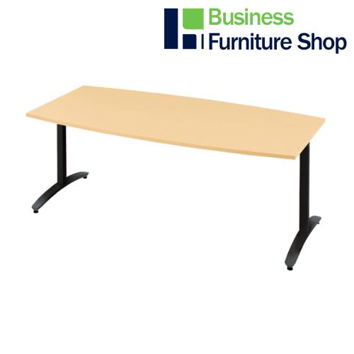 ロンナ 会議テーブル NN-1809TAB WM/BK(オフィス 事務所)