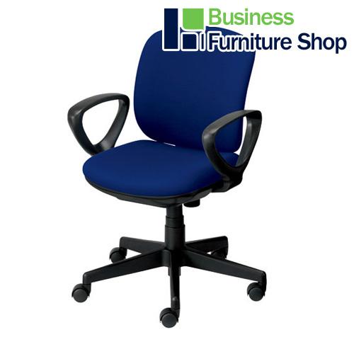 事務イス プリセア KB-K56SL 肘付 BL パソコンチェア デスクチェア 椅子 (オフィス 事務所)