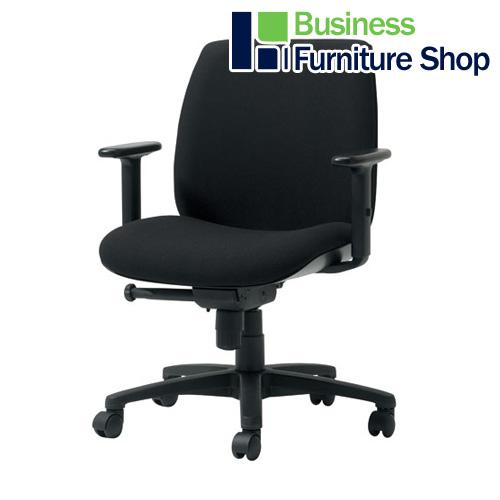 事務イスU KD-UC61SLJ BK パソコンチェア デスクチェア 椅子 (オフィス 事務所)