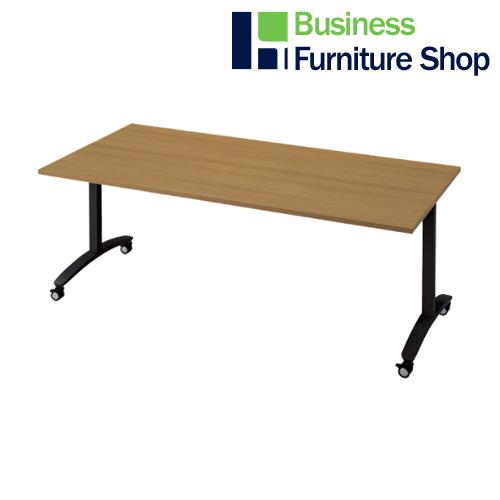 ロンナ 会議テーブル NN-1809TKR T2/BK(オフィス 事務所)