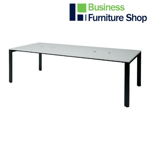 増連型テーブル MR-2412SQH WH/BK(オフィス 事務所)