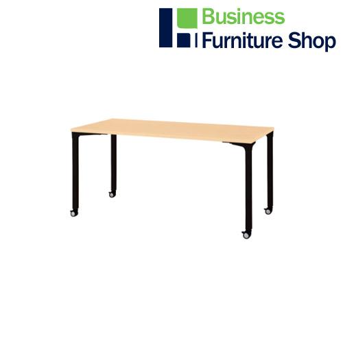 ロンナ 会議テーブル NN-1507PKR WM/BK(オフィス 事務所)