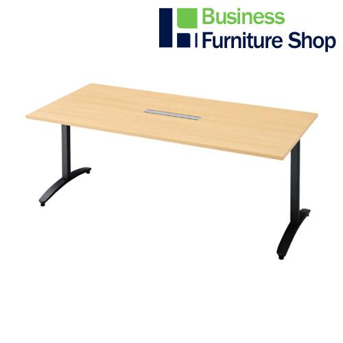 ロンナ 会議テーブル NN-1809TARH WM/BK(オフィス 事務所)