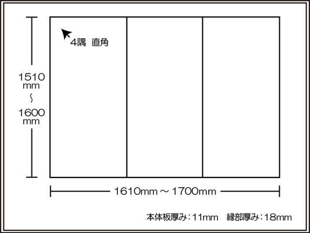 【風呂ふた送料無料】東プレ ビッグセーション 1510~1600×1610~1700mm 3枚割_
