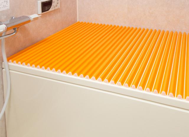 【風呂ふた送料無料】東プレ カラーウェーブ風呂ふた L14 オレンジ 75×140cm用風呂ふた_