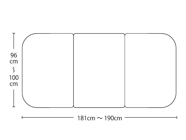 【送料無料】オーダーメイド冷めにく~い風呂ふた 奥行96~100×間口181~190cm 3枚割_