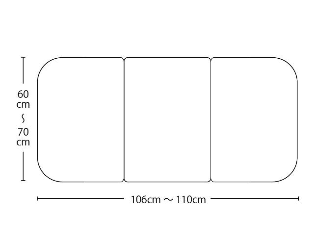 【送料無料】オーダーメイドさめにくい風呂ふたneo 奥行60~70×間口106~110cm 3枚割_