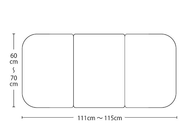 【送料無料】オーダーメイド冷めにく~い風呂ふた 奥行60~70×間口111~115cm 3枚割_