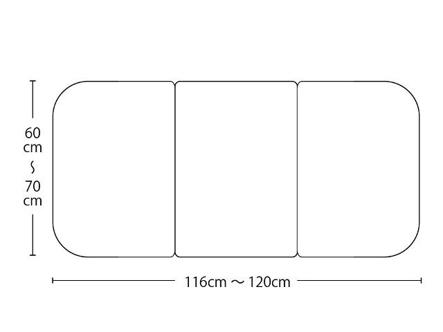 【送料無料】オーダーメイド冷めにく~い風呂ふた 奥行60~70×間口116~120cm 3枚割_