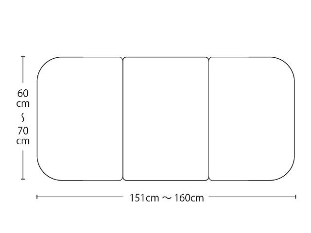 【送料無料】オーダーメイドさめにくい風呂ふたneo 奥行60~70×間口151~160cm 3枚割_