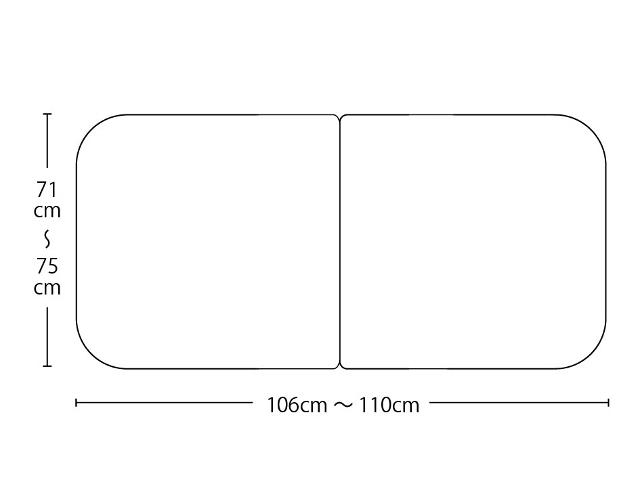 【送料無料】オーダーメイド冷めにく~い風呂ふた 奥行71~75×間口106~110cm 3枚割_
