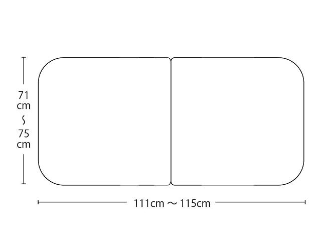 【送料無料】オーダーメイドさめにくい風呂ふたneo 奥行71~75×間口111~115cm 2枚割_