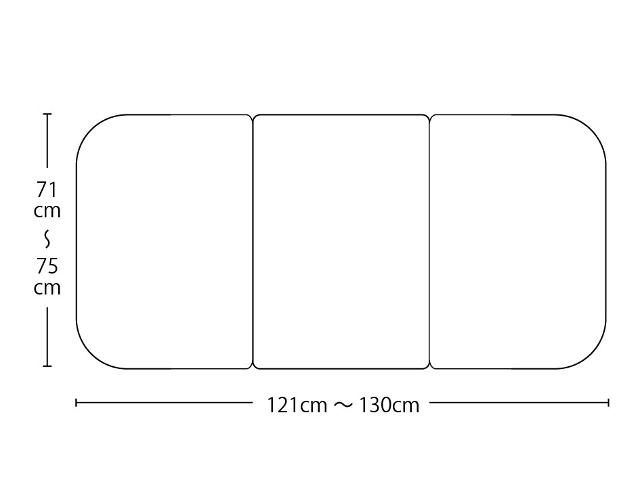 【送料無料】オーダーメイド冷めにく~い風呂ふた 奥行71~75×間口121~130cm 3枚割_