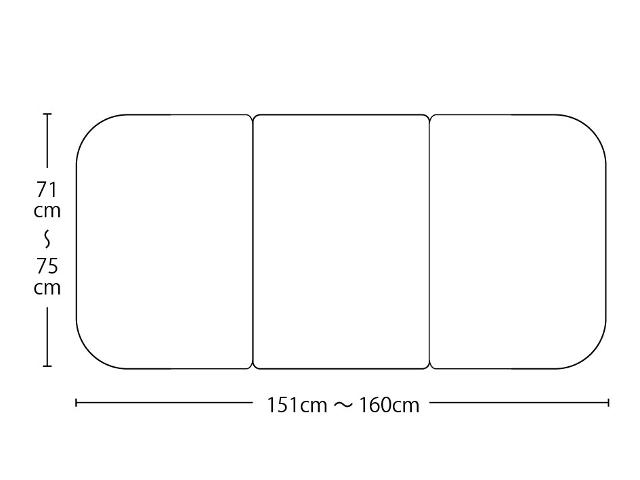 【送料無料】オーダーメイド冷めにく~い風呂ふた 奥行71~75×間口151~160cm 3枚割_