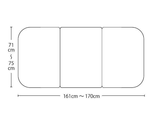【送料無料】オーダーメイドさめにくい風呂ふたneo 奥行71~75×間口161~170cm 3枚割_