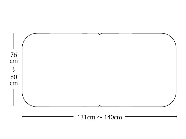 【送料無料】オーダーメイド冷めにく~い風呂ふた 奥行76~80×間口131~140cm 3枚割_