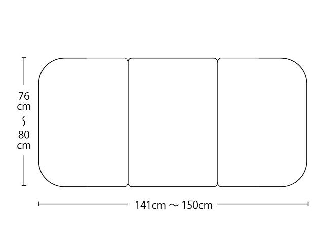 【送料無料】オーダーメイド冷めにく~い風呂ふた 奥行76~80×間口141~150cm 3枚割_