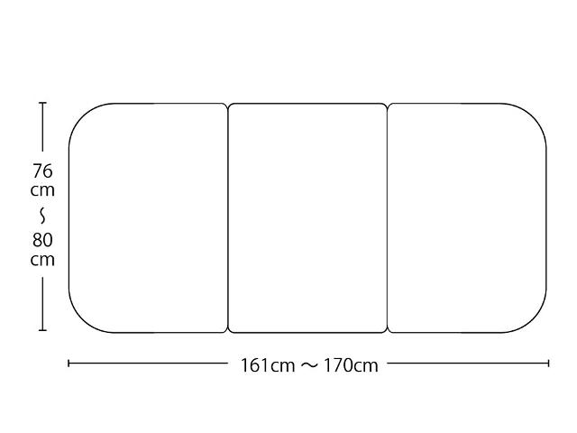 【送料無料】オーダーメイド冷めにく~い風呂ふた 奥行76~80×間口161~170cm 3枚割_