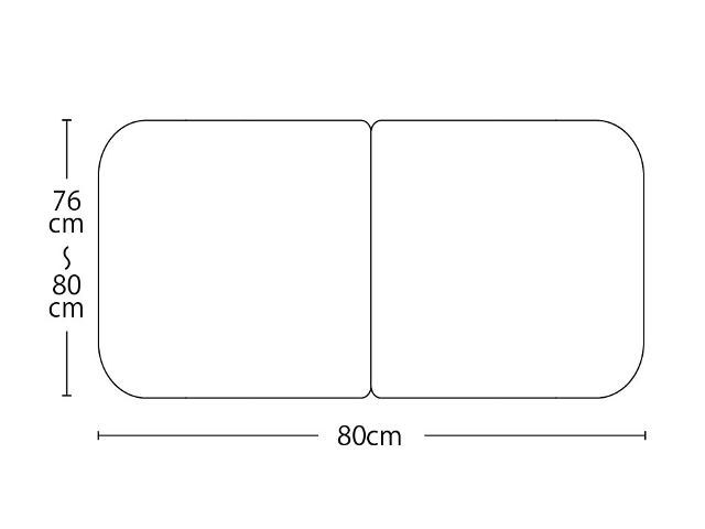 【送料無料】オーダーメイドさめにくい風呂ふたneo 奥行76~80×間口80cm 2枚割_