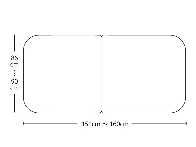 【送料無料】オーダーメイド冷めにく~い風呂ふた 奥行86~90×間口151~160cm 3枚割_