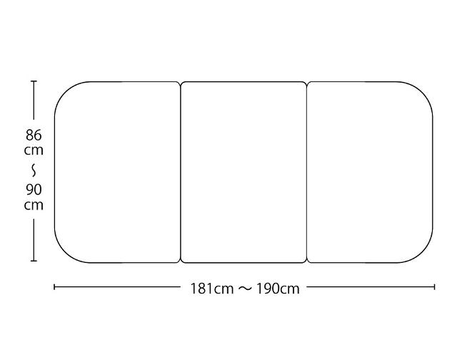 【送料無料】オーダーメイド冷めにく~い風呂ふた 奥行86~90×間口181~190cm 3枚割_