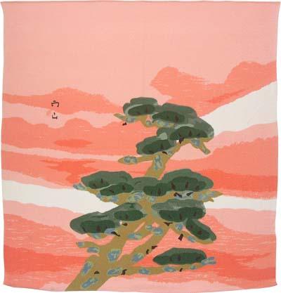 敬老の日特集 風呂敷・正絹 暁の松・木村雨山(78cm)ふろしき 風呂敷専門店