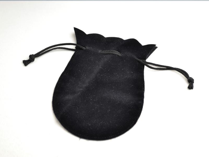 貝パール9mm玉慶弔用2点セット 黒(巾着袋入)