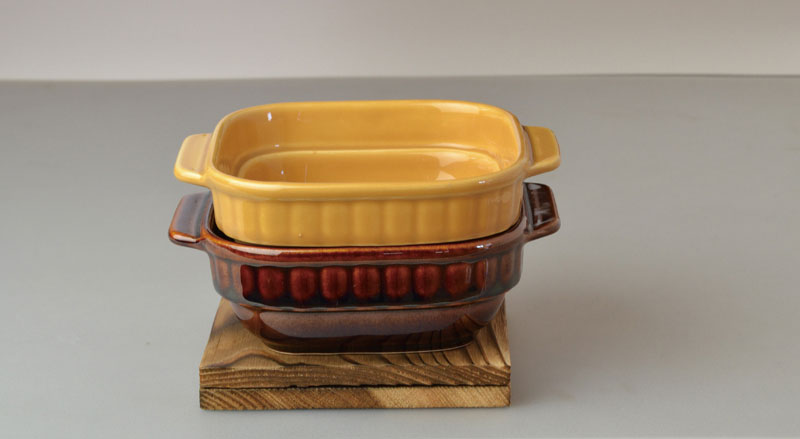 ブラウニーオーブントースターハーフ(台付)2色組