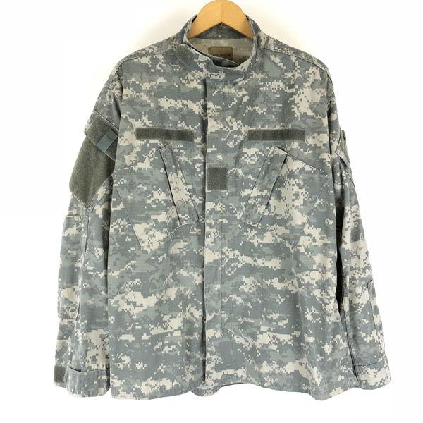【古着】 U.S ARMY BDUジャケット ACU リップストップ デジタルカモ カモフラ柄 オリーブ系 メンズL n010134