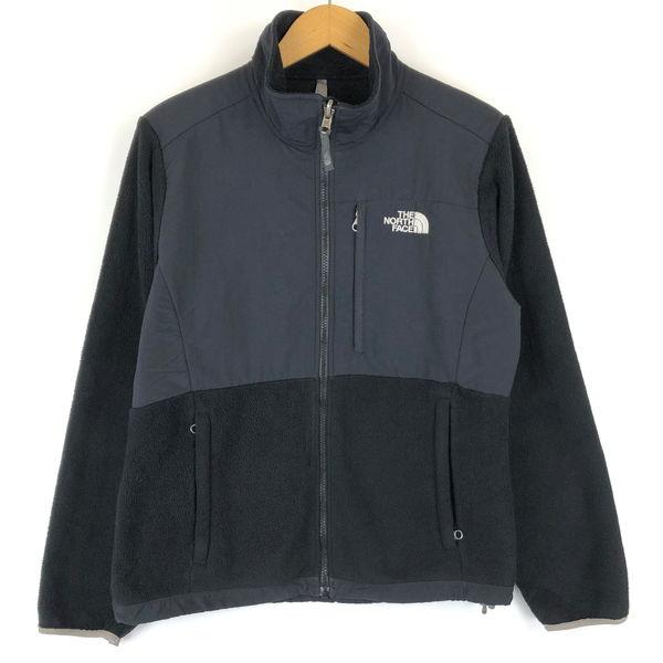 【古着】 ノースフェイス フリースジャケット デナリジャケット 切替えデザイン ブラック系 レディースM n013193