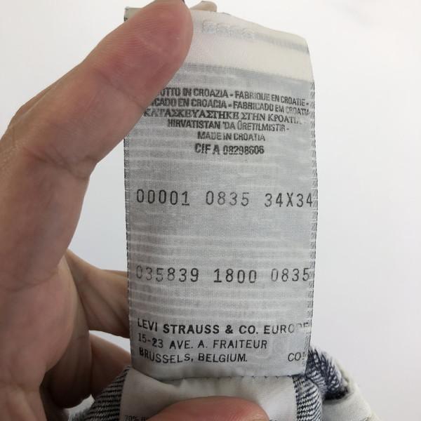 Levi's リーバイス エンジニアードデニムパンツ 立体裁断 ユーロモデル クロアチア製 ネイビー系 メンズW35 n019503ZuPkOXiT
