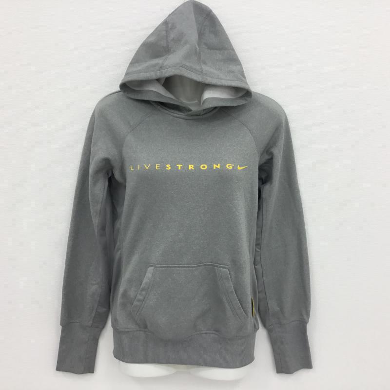 ナイキ NIKE 表記サイズ:XS 新色 灰 グレー プリント パーカー 中古 長袖 10000044 安売り 古着 USED