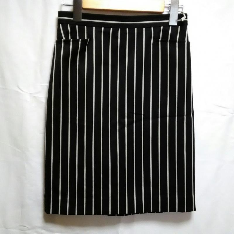 ピンキーアンドダイアン PINKYDIANNE 表記サイズ:34 白 ホワイト 人気 X 紺 ネイビー ストライプ ギフト Skirt ひざ丈スカート スカート USED 中古 10001998 Medium 古着