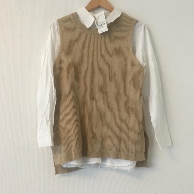 ショコラ フィネ ローブ chocol raffine robe 表記サイズ:FREE 白 ホワイト X 古着 ベージュ USED ブラウス 人気ブランド 中古 贈呈 10002504 シャツ 無地 長袖