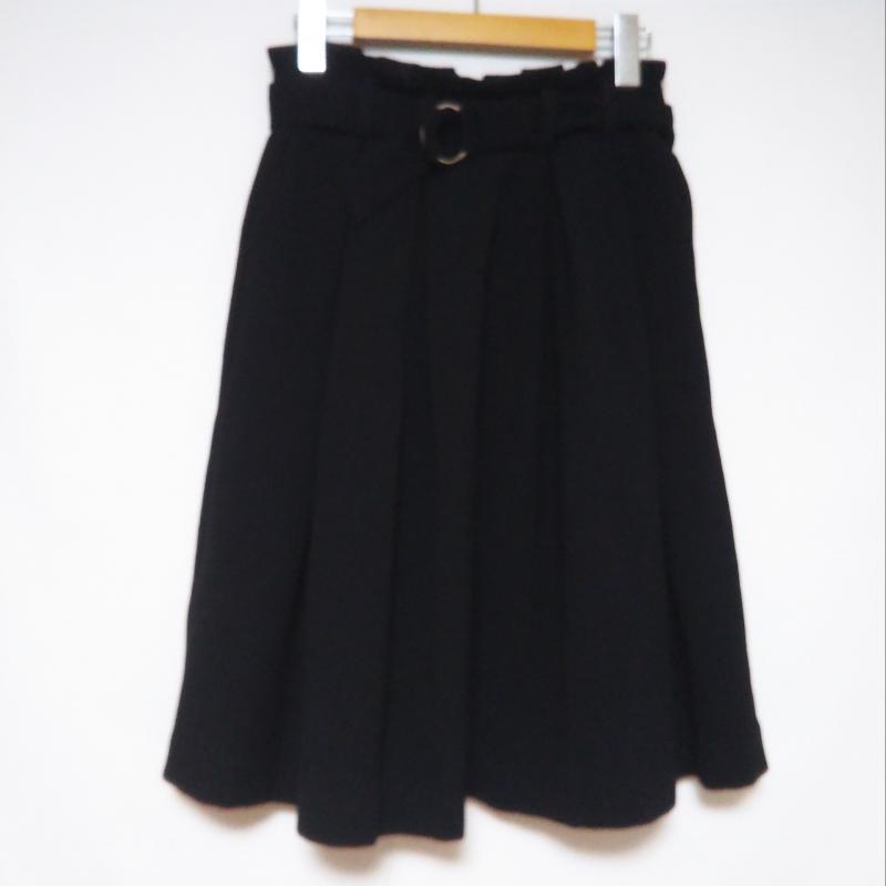 エンネア Ennea 買い取り 表記サイズ:36インチ 限定価格セール 黒 ブラック 無地 ひざ丈スカート 古着 スカート Medium Skirt USED 中古 10003174