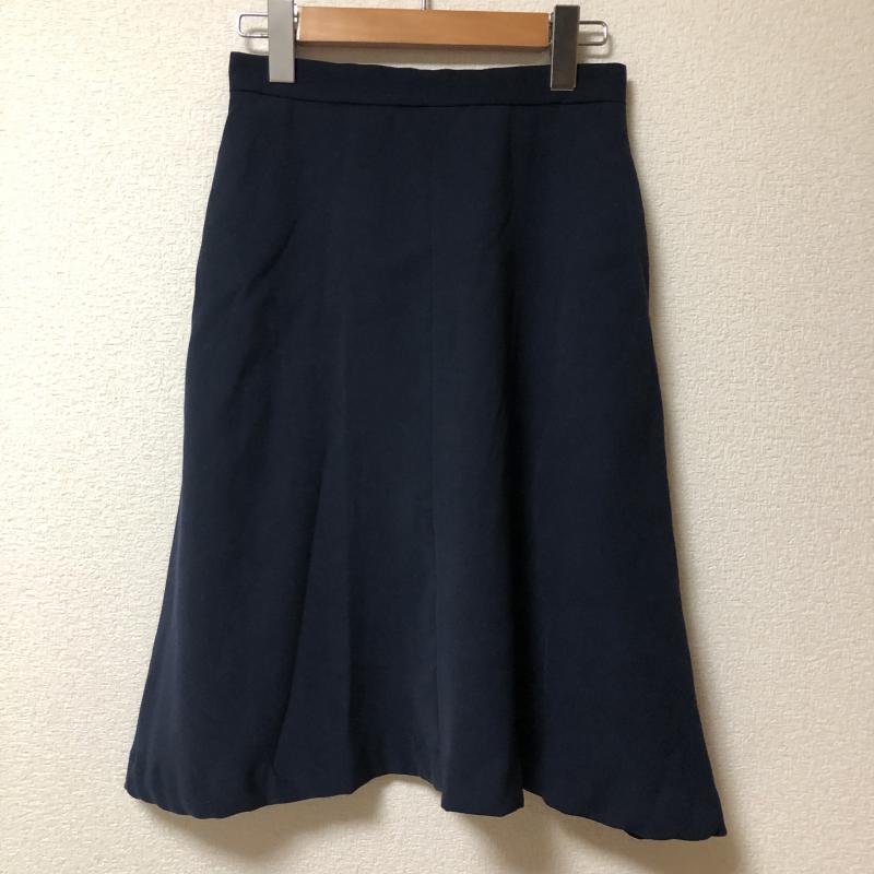 エンネア 特価 Ennea 表記サイズ:38 藍 ネイビー 無地 ひざ丈スカート スカート 中古 USED 10005081 古着 オープニング 大放出セール