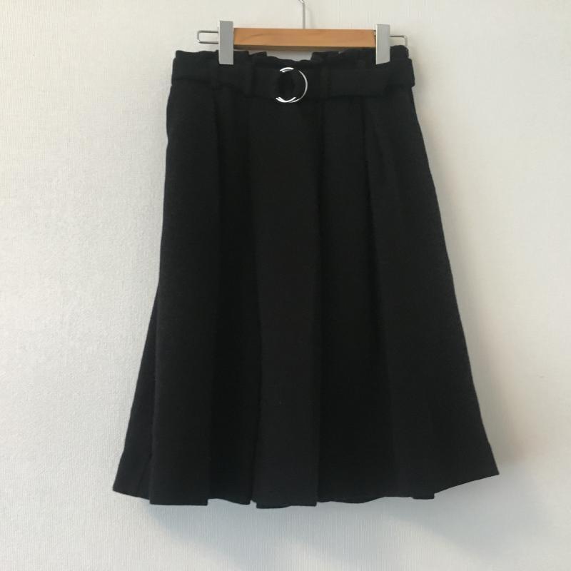 エンネア Ennea 店内限界値引き中&セルフラッピング無料 表記サイズ:38 黒 ブラック 無地 ひざ丈スカート スカート 低価格 USED 10005445 Skirt Medium 古着 中古