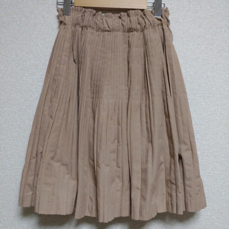 ヨーロ YOLO 表記サイズ:38 ベージュ 無地 スーパーSALE セール期間限定 ひざ丈スカート USED 10006441 信用 古着 スカート 中古