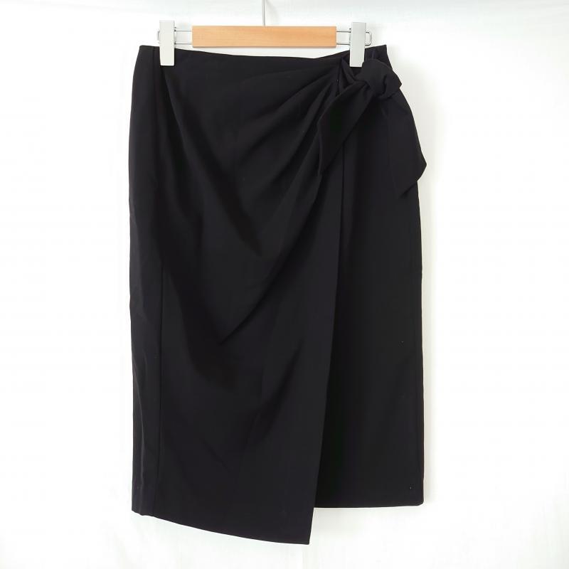 リアラ 激安価格と即納で通信販売 Reala 表記サイズ:S 黒 ブラック 無地 スカート 在庫一掃 USED 古着 ひざ丈スカート 中古 10006762