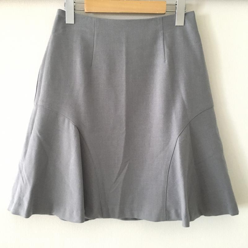 エンネア Ennea 表記サイズ:38 灰 グレー 無地 ひざ丈スカート 10007784 中古 古着 Skirt USED スカート 70%OFFアウトレット Medium 低価格