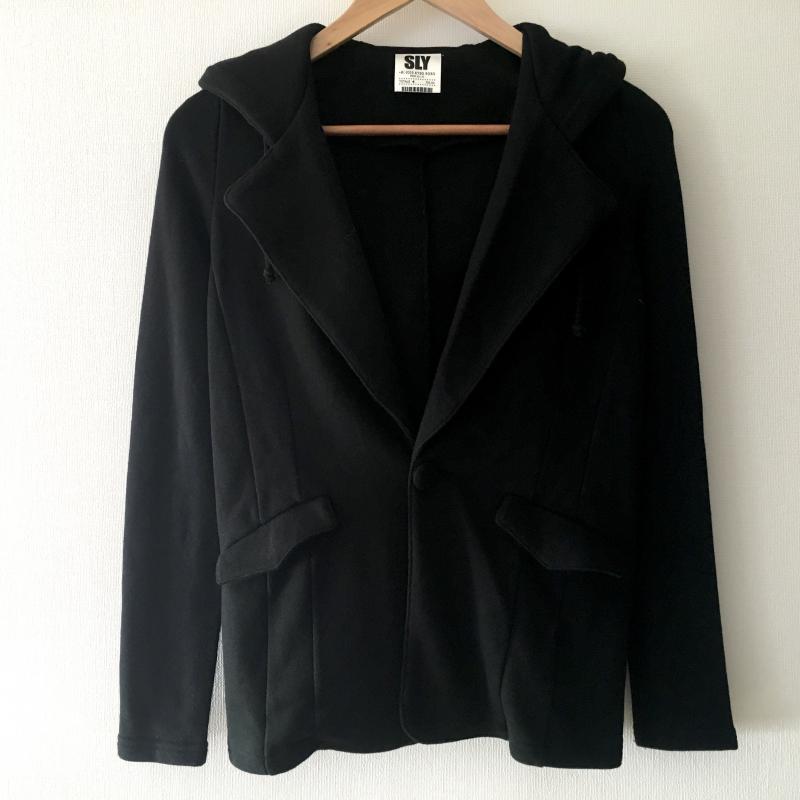 スライ バーゲンセール SLY 表記サイズ:1 黒 ブラック 無地 ジャケット 安心の定価販売 中古 USED 10008587 Jacket 古着 ブレザー 上着